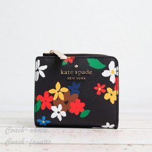 NWT Kate Spade Staci Daisy L-zip Bifold Wallet